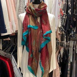 Silk scarf jewel tone